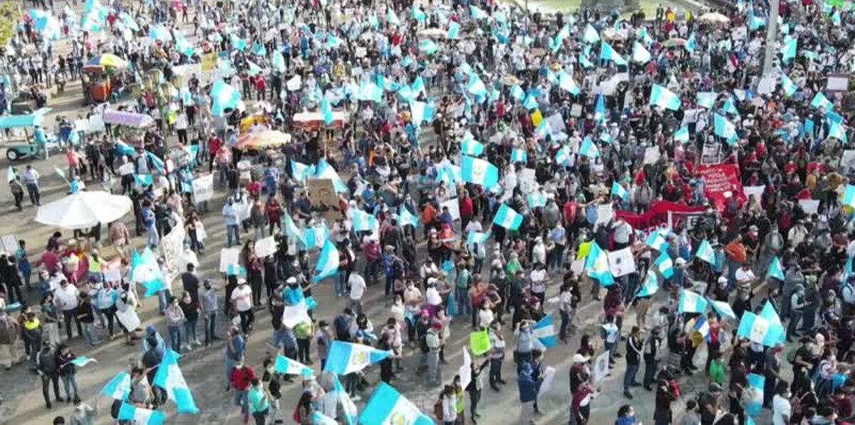 Nuevas protestas en contra del presidente de Guatemala, Alejandro Giammattei