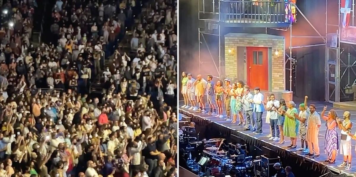 """Emotivo momento al finalizar """"In the Heights"""" en el Coliseo de Puerto Rico"""