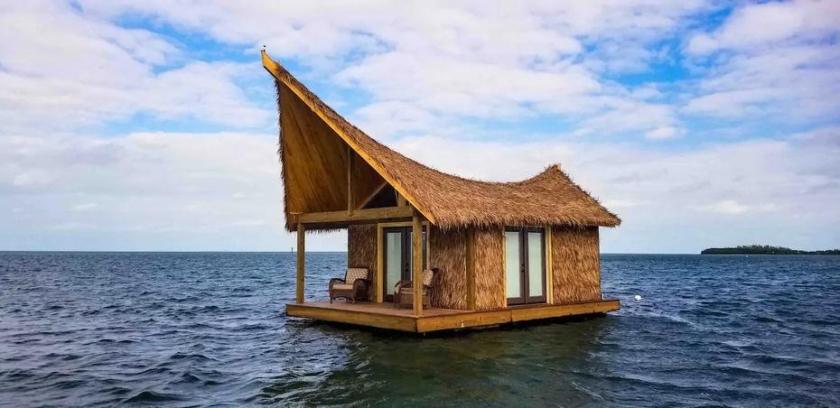 Una casa flotante en Key West, Florida.