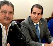 Líderes del Secotr Privado como Carlos Rodríguez, presidente de los Industriales (izquierda), y Liliana Cubano, presidenta de la Asociación de Productos de Puerto Rico (derecha) expresaron asombro y rechazo a la medida de Navarro. (GFR Media)