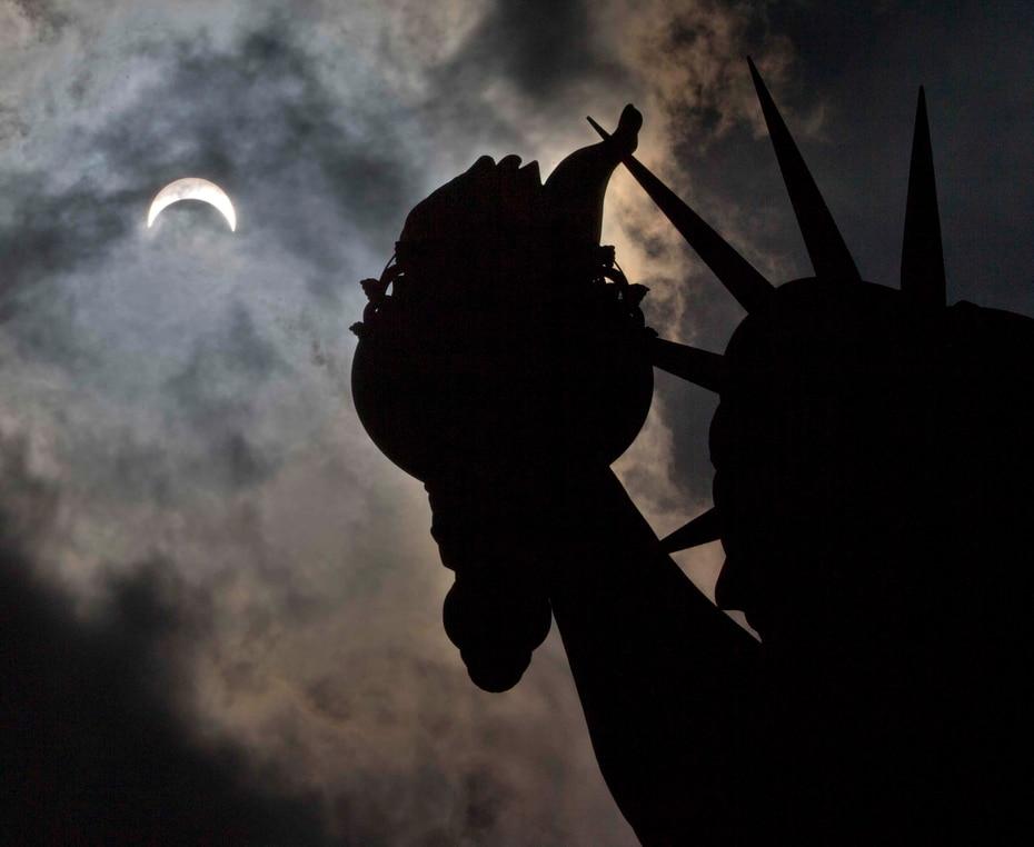 Visto desde la Estatua de la Libertad en Nueva York. (The Associated Press)