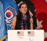 Lisa Baird, ahora excomisionada de la máxima división del fútbol femenino de Estados Unidos.