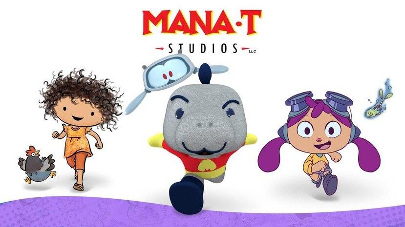 """La casa productora y de animación Mana-T Studios está desarrollando varios proyectos, mientras apuesta a la distribución internacional de productos de propiedad intelectual como el personaje de """"Elenita, the chicken whisperer"""", a la izquierda."""