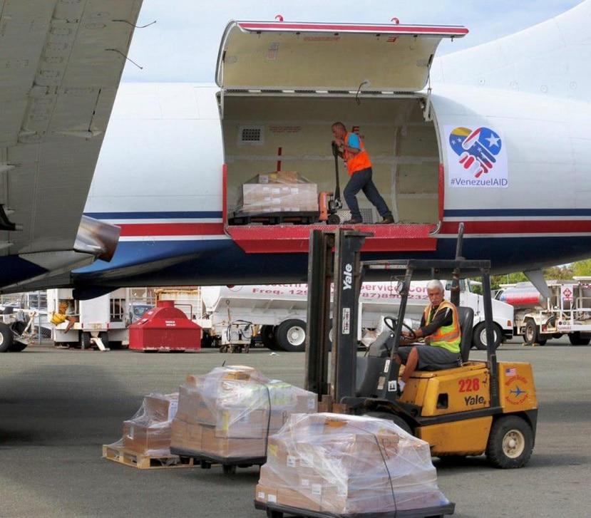 El avión había partido el miércoles de la semana pasada desde la base Ramey, en Aguadilla. (Captura / Twitter)