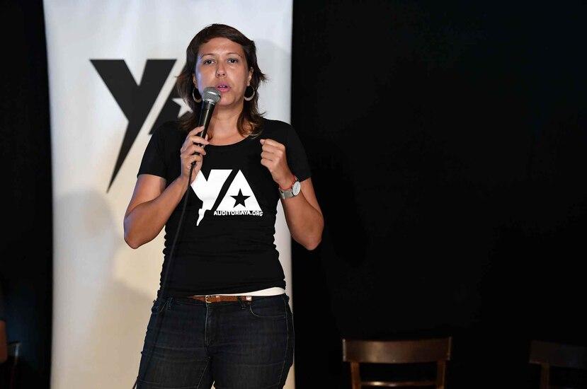 Eva Prados, portavoz del Frente Ciudadano por laAuditoría de la Deuda (FCAD). (GFR Media)