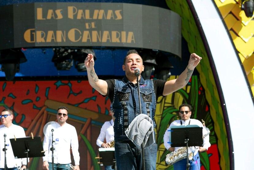 Manny Manuel durante su participación en el Carnaval de Islas Canarias antes de ser expulsado. (EFE)