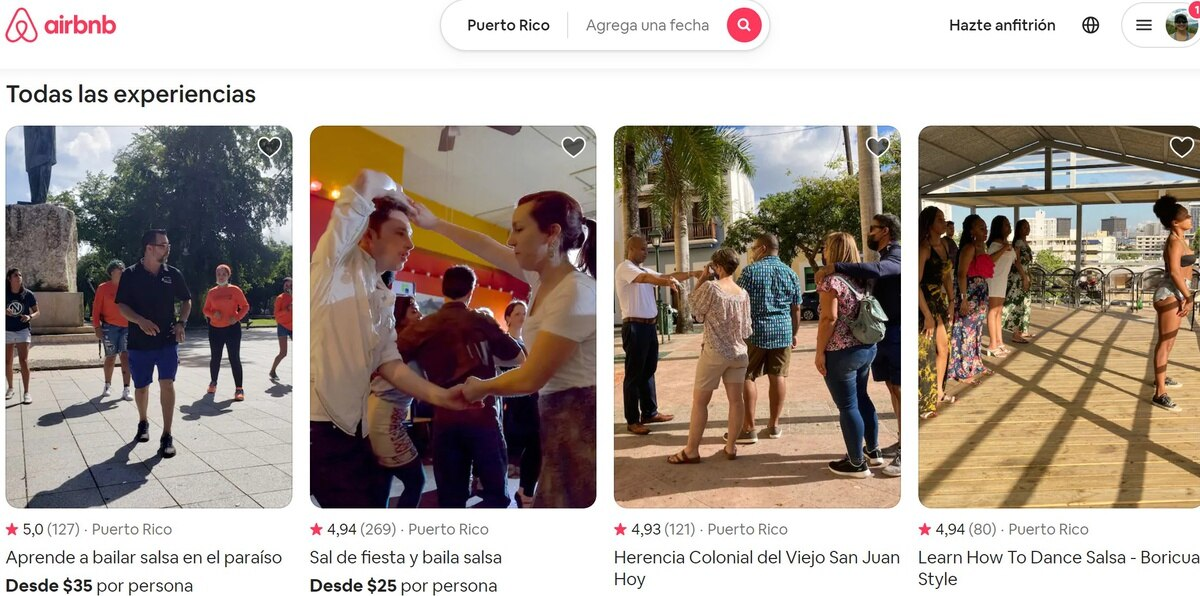 En Puerto Rico, Airbnb tiene 137 experiencias aprobadas para todos los gustos tanto de turistas internos como visitantes del exterior.