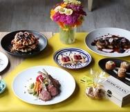 Algunas de las opciones gastronómicas que puedes disfrutar en la mesa de la Casa de Roberta's.