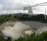 Así lucía el radiotelescopio del Observatorio de Arecibo antes de colapsar.