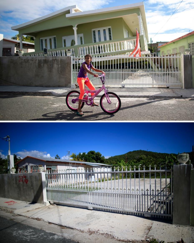 Una de las residencias afectadas en la calle 2 de la comunidad La Esperanza, en Guánica.
