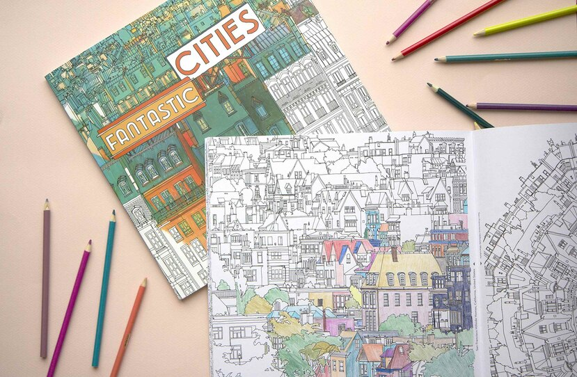 Fantastic Cities: Coloring Book of Amazing Places (Suministrada)