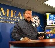 Nino Correa, comisionado interino del Negociado para el Manejo de Emergencias y Administración de Desastres  (NMEAD).