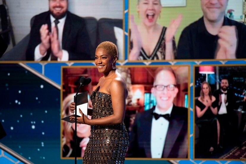 La gala de los premios Golden Globe estuvo un poco deslucida, debido al uso de las videollamadas para anunciar a los ganadores. EFE/EPA/HFPA