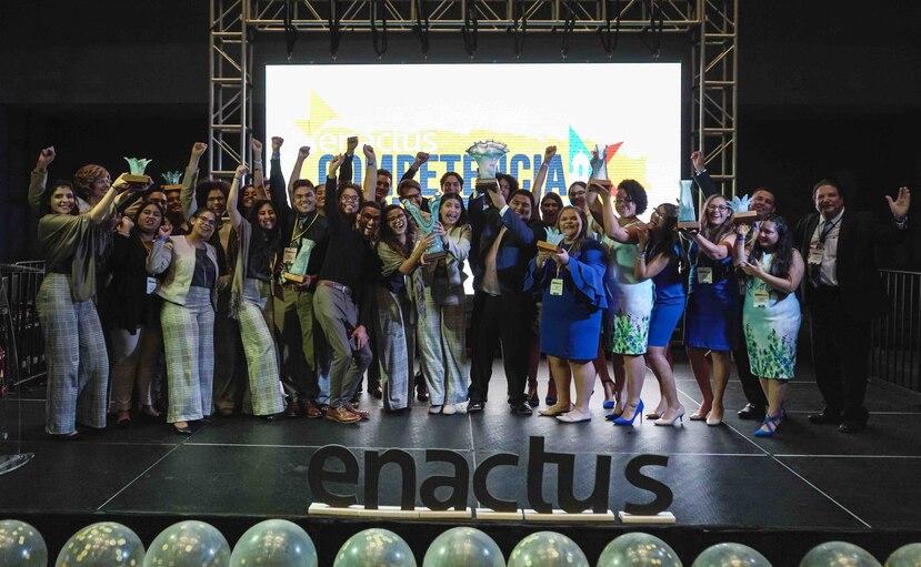 El equipo campeón de esta competencia de Enactus fue el de  la Universidad de Puerto Rico, Recinto de Humacao y el equipo subcampeón fue el de Humacao Community College. (Suministrada)