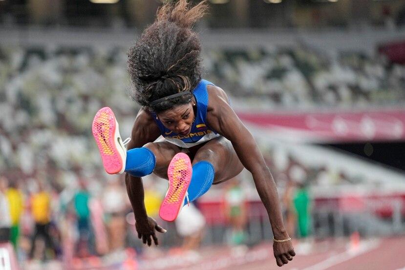 La colombiana Caterine Ibargüen pasó a la final del salto triple femenino de los Juegos Olímpicos.