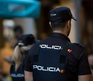 Un agente de la Policía de España.