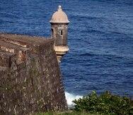 Una garita en el Castillo San Felipe del Morro en el Viejo San Juan.