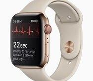 Vista de la aplicación de lectura de ritmo cardíaco del Apple Watch.