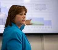 La directora ejecutiva de la Junta de Supervisión Fiscal, Natalie Jaresko.
