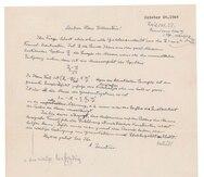 "Carta escrita por Albert Einstein, en la cual este escribió su famosa ecuación ""E = mc2""."
