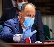 El representante Juan Oscar Morales Rodríguez durante una de las vistas llevadas a cabo como parte de la investigación de las compras de pruebas de COVID-19.