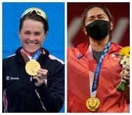 Flora Duffy, de Bermudas; y  Hidilyn Díaz, de Filipinas, le dieron los primeros oros olímpicos en la historia de sus respectivos países.