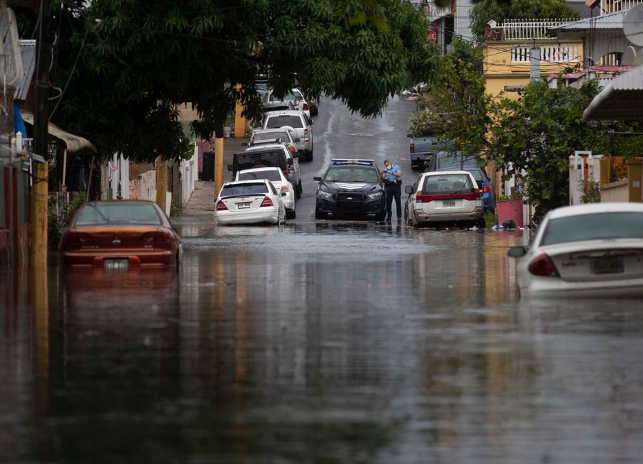 Inundaciones en la zona de Barrio Obrero, en Santurce.