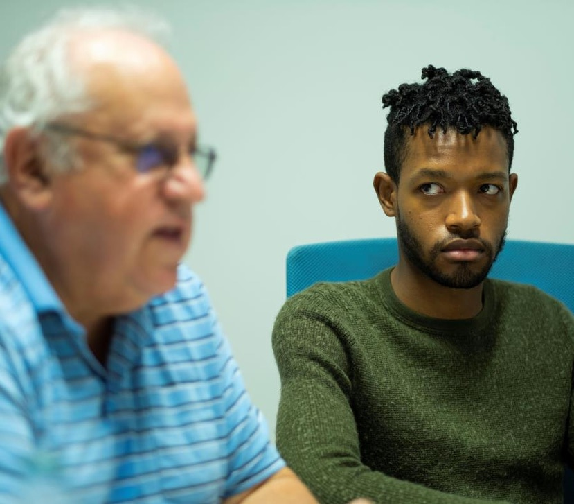 In the picture, community activists Jerome Golberg (right) and Jonathan Roberts.