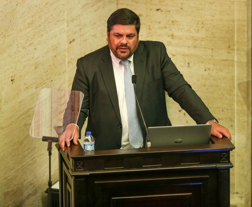 El designado secretario de Salud, Carlos Mellado, durante la vista de interpelación.