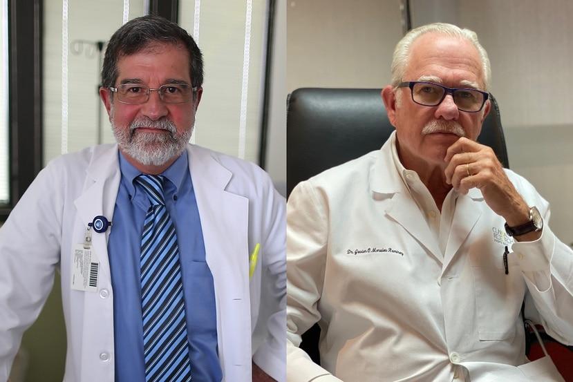 Los doctores Fernando Cabanillas y Javier Morales.