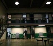 Imagen de archivo que muestra el módulo de visitas en la cárcel de Guayama.