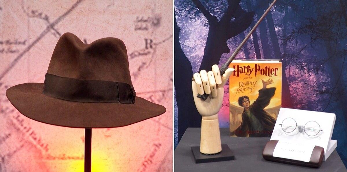 Subastan la varita de Harry Potter y el sombrero de Indiana Jones