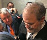 Salvatore Anello en una de sus comparecencias en el tribunal. (GFR Media)