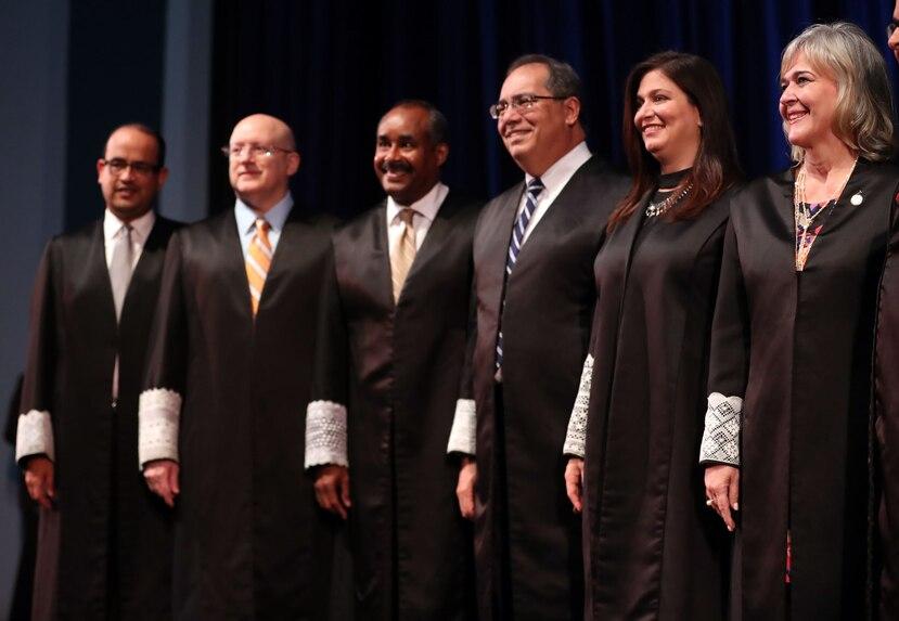 Los jueces del Tribunal Supremo de Puerto Rico.