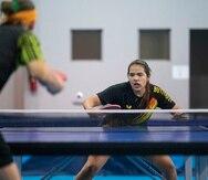 La ronda preliminar de tenis de mesa comenzará el 24 de julio en los Juegos de Tokio. En la foto, la boricua Adriana Díaz.