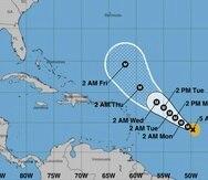 Pronóstico del Centro Nacional de Huracanes para el huracán Sam, actualizado a las 5:00 a.m. del domingo.