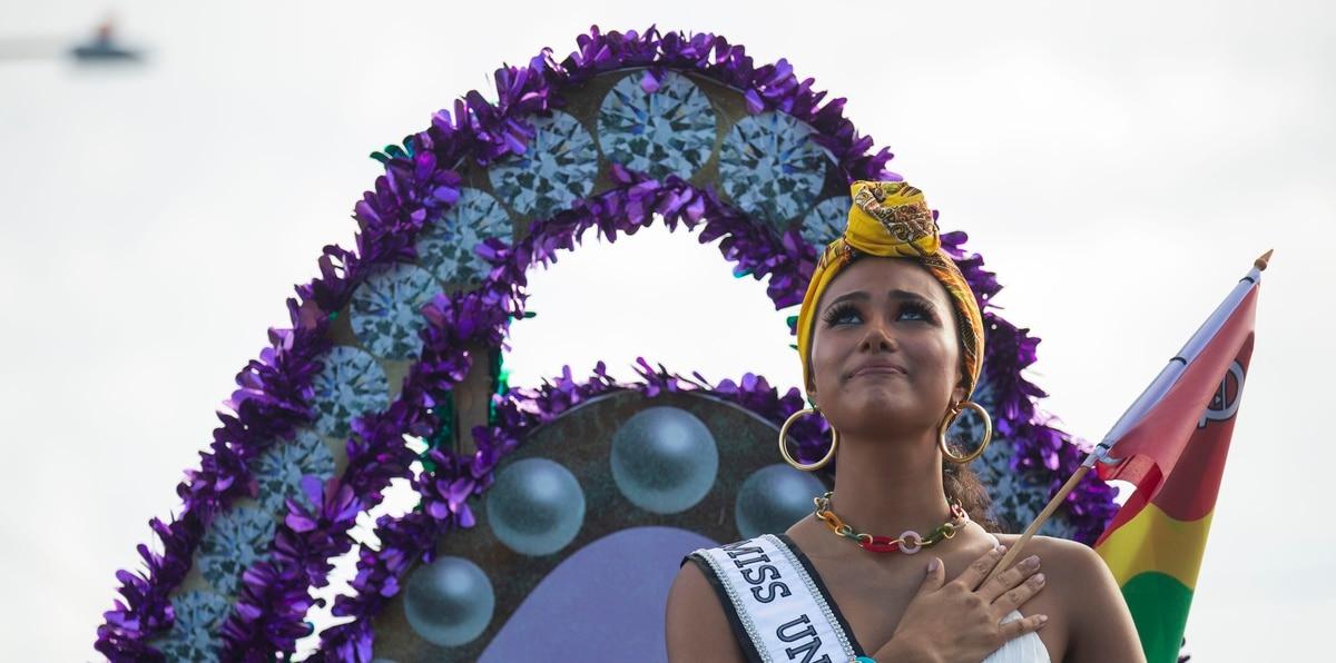 Loíza recibe a Michelle Marie Colón Ramírez, Miss Universe Puerto Rico