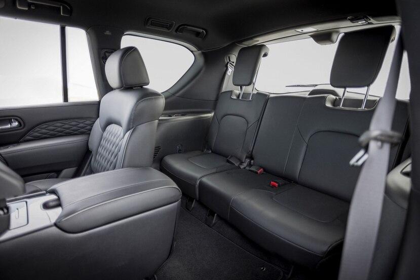 La nueva Infiniti QX80 tiene tres filas de asiento.