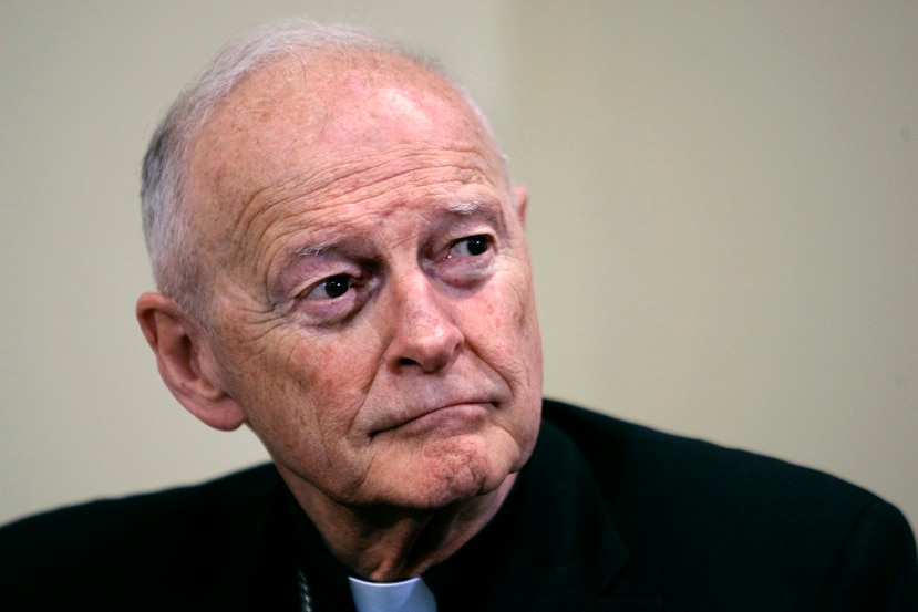 En 2019, el papa Francisco despojó del estado sacerdotal a Theodore McCarrick (arriba), de 91 años, cuando una investigación del Vaticano confirmó rumores que circulaban desde hace décadas de que era un depredador sexual.