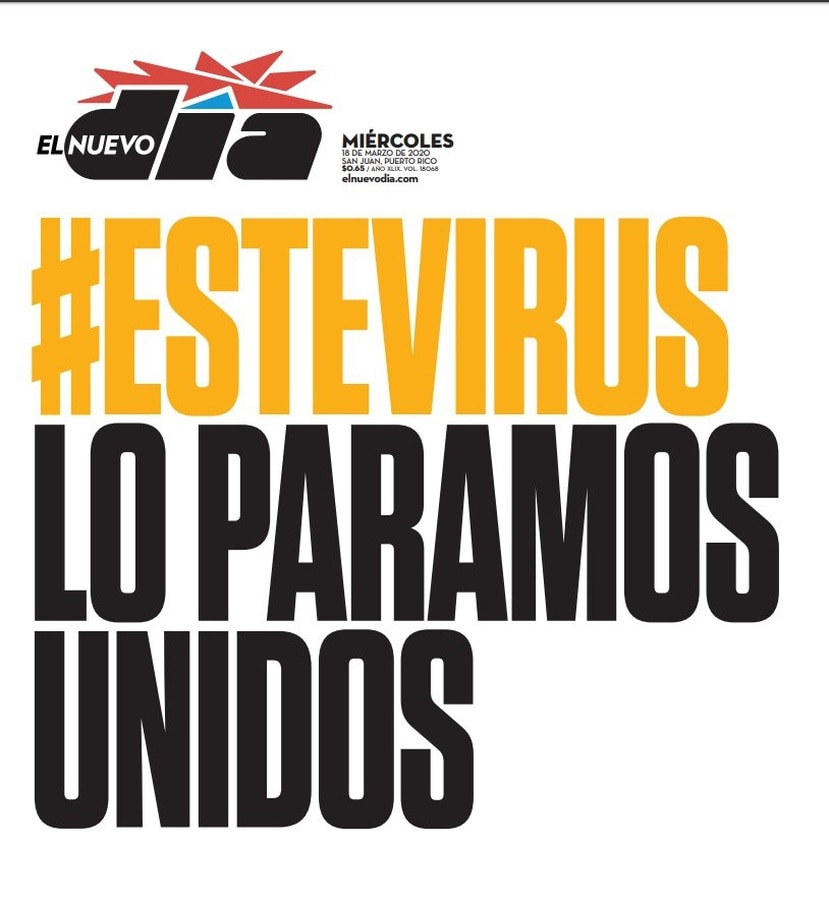 Los principales rotativos de Puerto Rico comparten hoy la misma portada y el mismo mensaje. (GFR Media)