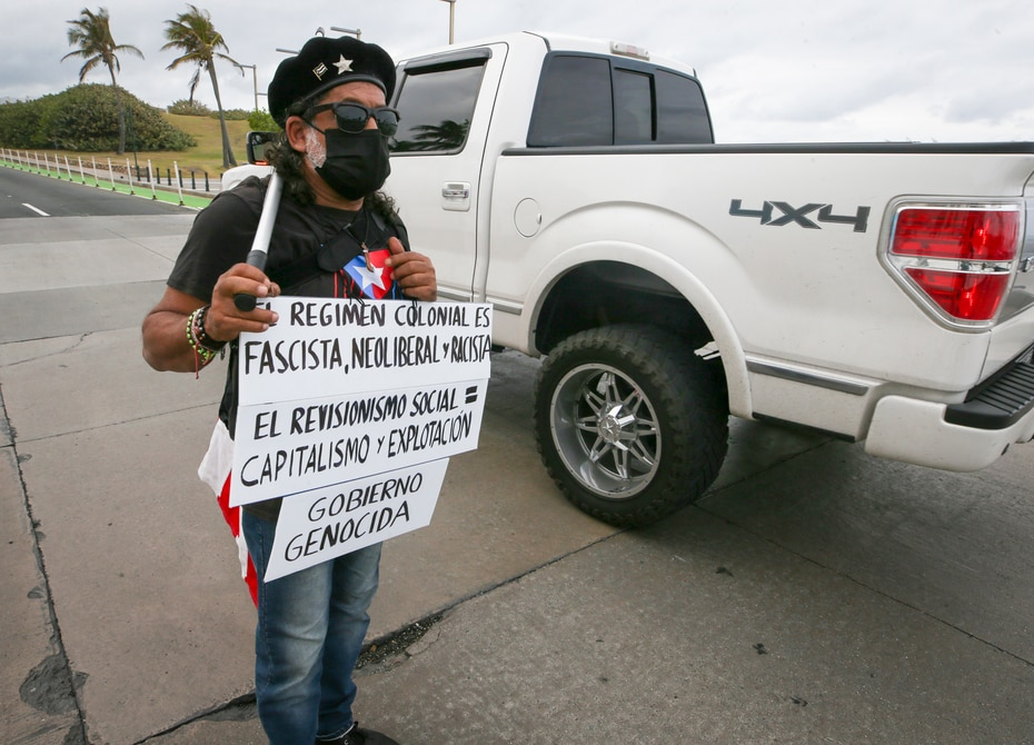 Las protestas se mantuvieron activas antes y durante el mensaje de Pedro Pierluisi.
