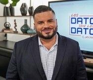 """El abogado y analista político Jay Fonseca estrenó hoy su nuevo programa """"Los datos son los datos""""."""