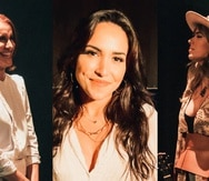 """De izquierda a derecha, Tita Guerrero, Ana Isabelle y Natalia Lugo, quienes formarán parte de la iniciativa """"Regresaremos"""" que estrena en Youtube el sábado 24 de abril."""
