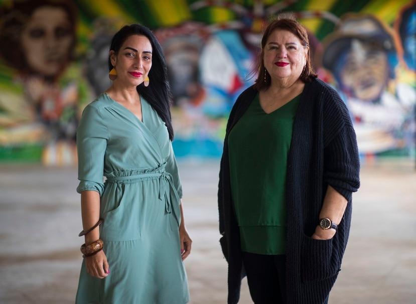 La profesora Elithet Silva Martínez (izquierda) y la directora de la Escuela Graduada de Trabajo Social, Lillian Albite, advirtieron que el deterioro en el programa tiene un efecto directo en muchas iniciativas que dependen de los estudiantes que prepara la institución.