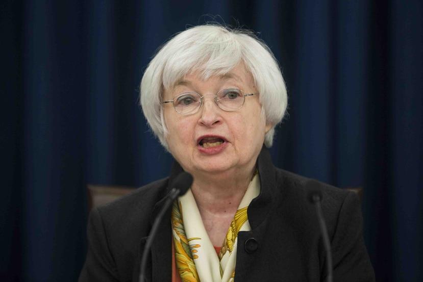 Janet Yellen, presidenta de la Reserva Federal. (EFE)