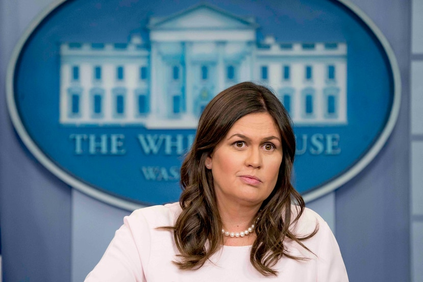 Sarah Huckabee Sanders. (AP)
