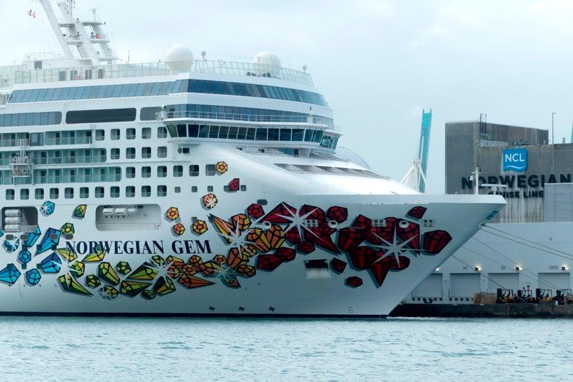 Vista del crucero Norwegian Gem, de la compañía Norwegian Cruise Line.