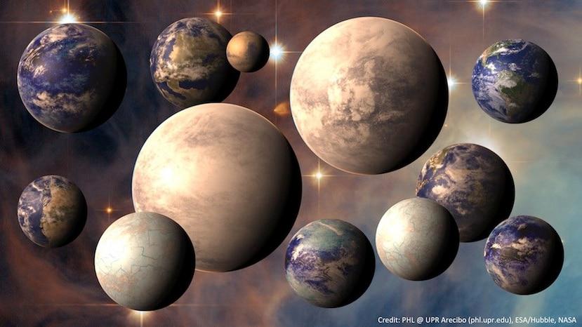 Hasta el momento se han descubierto 3,583 planetas fuera de nuestro sistema solar. (Ilustración / PHL UPR Arecibo)