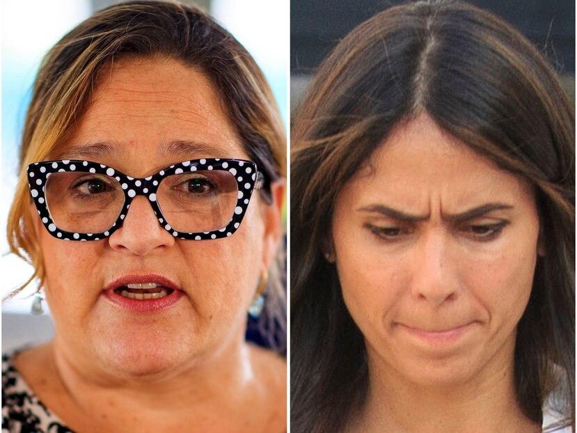 Las delegadas congresionales Melinda Romero (izq.) y Elizabeth Torres.