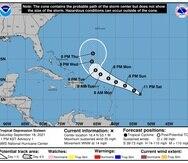 Trayectoria pronosticada por el Centro Nacional de Huracanes para la depresión tropical 16.